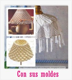 Materiales gráficos Gaby: Pantallas decorativas en ganchillo