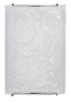 Schöne Wandleuchte E14 Weiß Wand Floral Leuchte Wandlampe Glas Beleuchtung