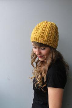 Superwash Merino Wool / Toque Hat / by YaroslavaHandmade Wool Yarn, Merino Wool, Cable Knit Hat, Pastel Yellow, Beautiful One, Knitted Hats, Knitwear, Knitting, Spring