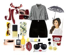 """""""Take me to COACHELLA"""" by vintagegabbi ❤ liked on Polyvore featuring Relaxfeel, River Island, Gianvito Rossi, Dolce&Gabbana, Kate Spade, Fulton, Forever 21, Lime Crime, Maybelline and Alice + Olivia"""