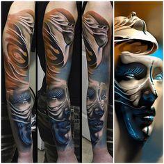 Tattoo by Tomasz Tofi Torfinski. Top Tattoos, Great Tattoos, Tribal Tattoos, Sleeve Tattoos, Amazing Tattoos, Colour Tattoo, Skin Art, Tattoo Sketches, Tattoo Images