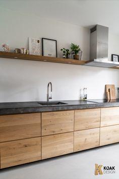 #modernkitchen #nieuwekeuken #nouvellecuisine #neueKüche Industrial Kitchen Design, Modern Kitchen Design, Interior Design Kitchen, Ikea Metod Kitchen, Handleless Kitchen, Kitchen Cabinets, Apartment Kitchen, Home Decor Kitchen, Home Kitchens