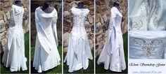 'Elven Snowdrop' Gown by Anastasia Lecky: Silk