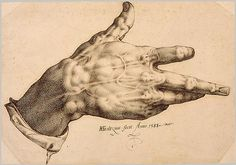 Goltzius's Right Hand, 1588  Hendrick Goltzius (Netherlandish, 1558–1617)  Pen and brown ink; 9 x 12 5/8 in. (23 x 32.2 cm)