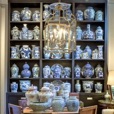 Will An All Blue and White Home Look Weird? - laurel home | photo by Rod Collins taken at the wonderful John Rosselli's shop in New York City. One really cannot have too much blue and white Chinoiserie. Bring on the OCD-- Obessive-Chinoiserie-Disorder! lol