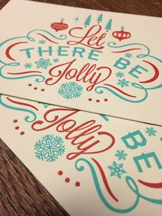 Let There Be Jolly #typography #calligraphy #lettering #type #font #logo #branding #packaging