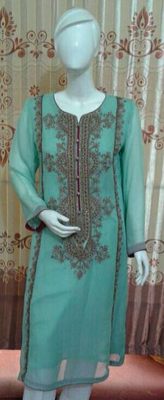 pk chiffon shirt hand embroidery with grip trouser & chiffon dupata in only 3500 pkr wholesale