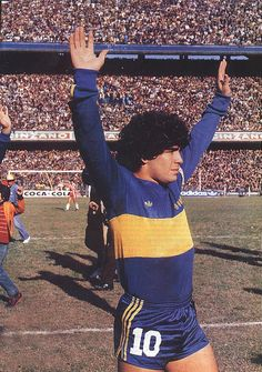 Maradona Retro Pics on Vintage Football Shirts, Retro Football, World Football, Soccer Guys, Football Soccer, Football Players, Football Images, Football Pictures, Argentina Football