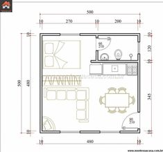 flip, with bath in back left. Studio Apartment Floor Plans, Studio Apartment Layout, Apartment Design, Small Apartment Plans, Layouts Casa, House Layouts, Tiny House Layout, Small House Design, Small House Plans