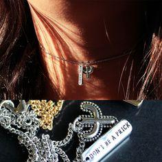 ∘❖∘❖∘ Dont Be A Prick Necklace ∘❖∘❖∘  www.shopdixi.com // cactus // shop dixi // boho  // bohemian // hippie // choker // grunge Hippie Bohemian, Boho, Raised By Wolves, Winter Collection, Grunge, Jewelery, Cactus, Chokers, Turquoise