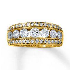 Diamond Anniversary Band 2 ct tw Round-cut 14K Yellow Gold