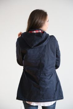 The Plaid Lined Jacket in Navy