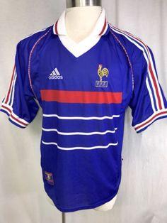 Vintage Rare Adidas France soccer jersey World Cup 1998 shirt Zidane  Griezmann please retweet 168cdae86