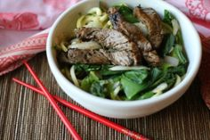 Try this unbelievably easyAsian Beef with Zoodlesdish that the whole family will love!
