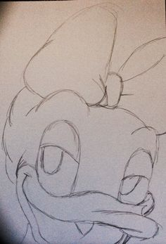Disney Daisy Duck drawing