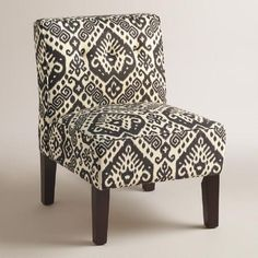 One of my favorite discoveries at WorldMarket.com: Charcoal Randen Upholstered Chair with Wood Legs