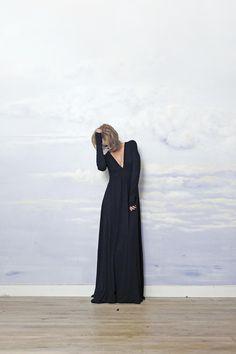 sukienka do ziemi MARIA ANTONINA black - Riskmadeinwarsaw - Sukienki maxi
