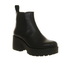 Womens-Vagabond-Dioon-Elastic-Chelsea-Boot-Exclusive-BLACK-LEATHER-Boots