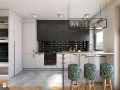 56m2 - Średnia otwarta kuchnia w kształcie litery l w aneksie, styl nowoczesny - zdjęcie od Pracownia Wielkie Rzeczy