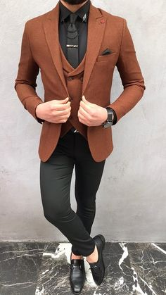 Blazer Outfits Men, Stylish Mens Outfits, Best Wedding Suits For Men, Gents Suits, Dress Suits For Men, Formal Men Outfit, Mens Fashion Suits, Well Dressed Men, Mens Clothing Styles