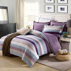Lenjerie de pat HG114303 pentru 2 persoane  -1 x cearceaf de pat & 1 x husă pentru pilotă & 2 x fețe de pernă din bumbac 100% Comforters, Blanket, Bed, Modern, Home, Facebook, Design, Creature Comforts, Quilts