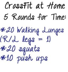 At home workout, definately a leg burner!!