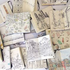 book by its cover: Sketchbook Series (so many peeks into artists' sketchbooks!)