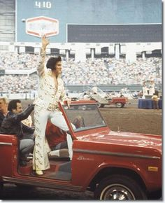 #The Houston Astrodome was chosen by Colonel Parker to be the first venue for Elvis to perform outside Las Vegas. This photo is from March 3, 1974 when he returned to the Houston Astrodome. Elvis set a one-day attendance record with his two shows on this day. -