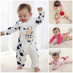 New Cute Newborn girl boy clothes Baby clothes Infant Girls Boys Romper Clothes #DressyEverydayHoliday