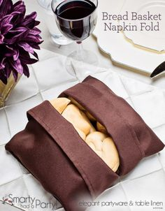 Bread Basket Napkin Fold | www.SmartyHadAParty.com
