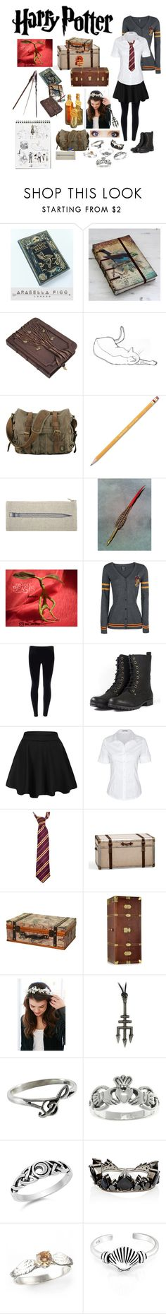 """Harry Potter OC - uniform"" by seachild41539 ❤ liked on Polyvore featuring NOVICA, S.W.O.R.D., Paper Mate, Thomaspaul, Pottery Barn, The Bridge, Urban Outfitters, Carolina Glamour Collection, Fernando Jorge and Bling Jewelry"