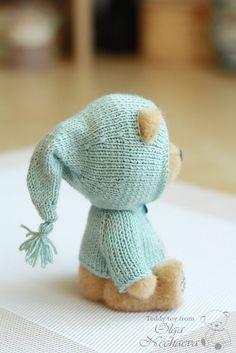 Мастер-класс по вязанию кофточки с капюшоном для мишки - Ярмарка Мастеров…