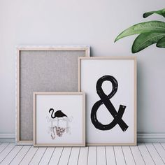 """14 Likes, 1 Comments - C H A T T E R P R I N T S (@chatter_prints) on Instagram: """"Our new """"&"""" wall print is simple yet def on trend. Cluster it among our other stylish prints to…"""""""