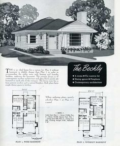 1949 National Homes: The Briggs | VinTagE HOUSE PlanS ...