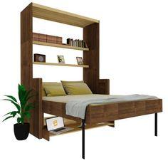 Sofa Bed Design, Bedroom Furniture Design, Bed Furniture, Home Decor Furniture, Bedroom Decor, Bedroom Bed Design, Home Room Design, Home Interior Design, Cama Murphy