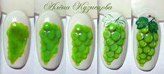 Jak powstają winogrona na paznokciach? Green grapes nails inspirations.