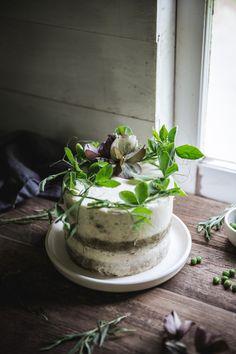 sweet pea and tarragon cake (gluten-free) // ohhoneybakes.com