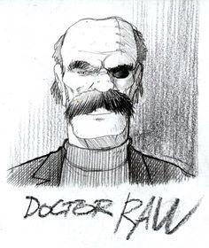 "Little tribute to Miyazaki's "" Future boy Conan"". Doctor Raw.   #futureboyconan #miyazaki #doctorraw #conan #stefanotamiazzo"
