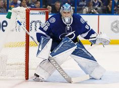 TAMPA, FL - JANUARY 3: Goalie Andrei Vasilevskiy #88 of the Tampa Bay Lightning skates against the Winnipeg Jets during second period at Amalie Arena on January 3, 2017 in Tampa, Florida. (Photo by Scott Audette/NHLI via Getty Images)
