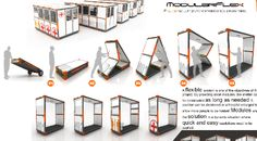 Foldable Disaster Housing That Literally Pops Up Modular Housing, Modular Homes, Kiosk Design, Booth Design, Mobile Architecture, Architecture Design, Emergency House, Emergency Shelters, Homeless Housing