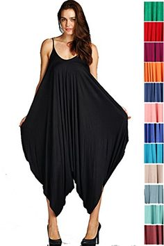 250be92ec4f4 Amazon.com  Fashion Secrets Solid Women Harem Overall Summer Jumpsuit  Romper  Clothing