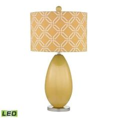 Check out the Dimond Lighting D2498-LED Sevenoakes 1 Light LED Table Lamp in Sunshine Yellow