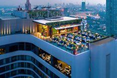 ★★★★★ Bangkok Marriott Marquis Queen's Park, Bangkok, Tayland Rooftop Restaurant, Rooftop Bar, Swimming Pool Maintenance, Bangkok Hotel, Rooftop Bangkok, Sky Garden, Marriott Hotels, Marquise, Park Hotel