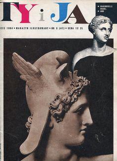 """Magazine """"TY I JA"""", 03.1964. Cover by Daniel Mróz."""