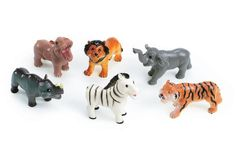 Soft Touch Baby Wild Animals - Set of 6 Baby Wild Animals, Pretend Play, Latex Free, Amelia, Lion Sculpture, Gift Ideas, Touch, Role Play, Larp