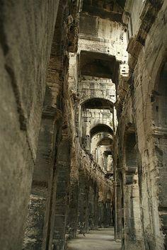 Roman Amphitheatre in Arles, France by walk4fotos