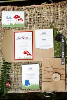 woodies wedding invitations | VIA #WEDDINGPINS.NET