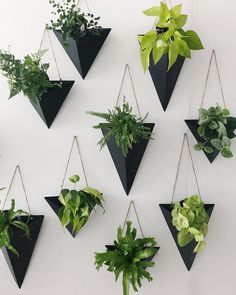Black Wall Sconces For Your Plants ★ Modern and unique wall planter pots made of plastic, ceramic, and metal to decorate your walls with. wall 18 Incredible Wall Planter Pots For Devoted Plant Fans Metal Plant Hangers, Wall Plant Hanger, Plant Wall Decor, House Plants Decor, Indoor Plant Wall, Metal Wall Decor, Diy Planters, Planter Pots, Ceramic Wall Planters
