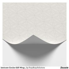 Intricate Circles Gift Wrap – Cream and White #zazzle #wedding #bridal shower