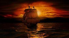 battle ship as digital fine art